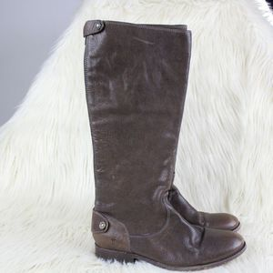 Frye Melissa Button Back Leather Riding Boots 8.5